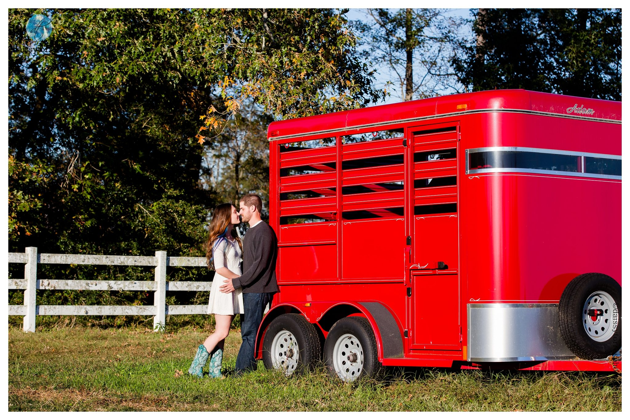 Back Bay Engagement Session - red wagon