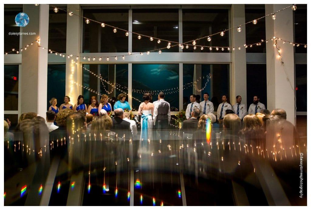 Virginia Aquarium Wedding - ceremony