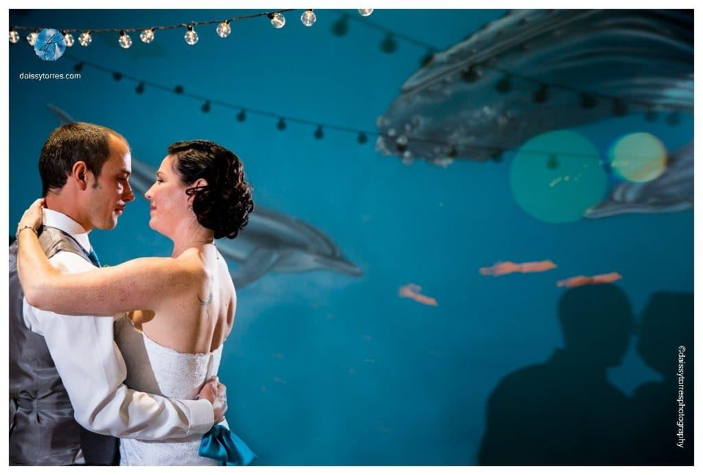 Virginia Aquarium Wedding - first dance