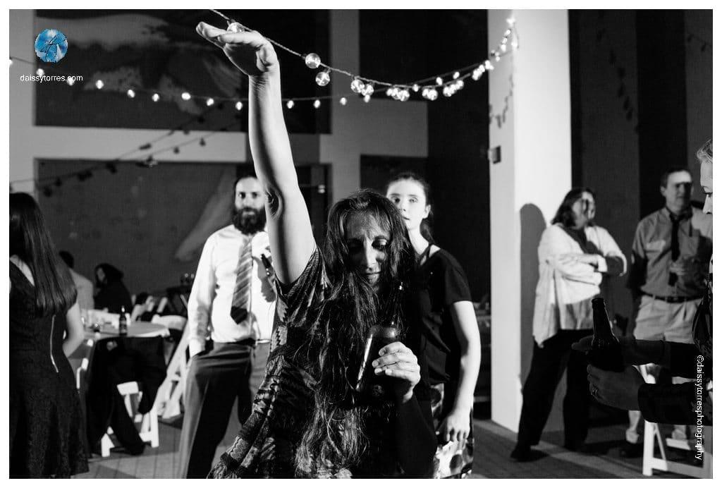 Virginia Aquarium Wedding - guest dancing