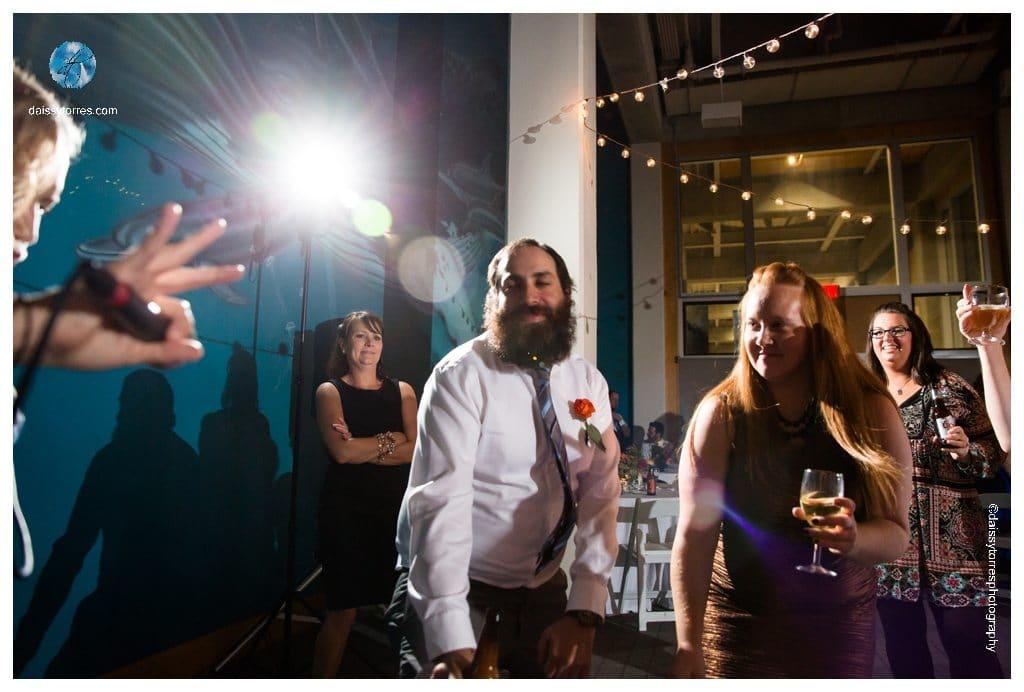 Virginia Aquarium Wedding - more dancing
