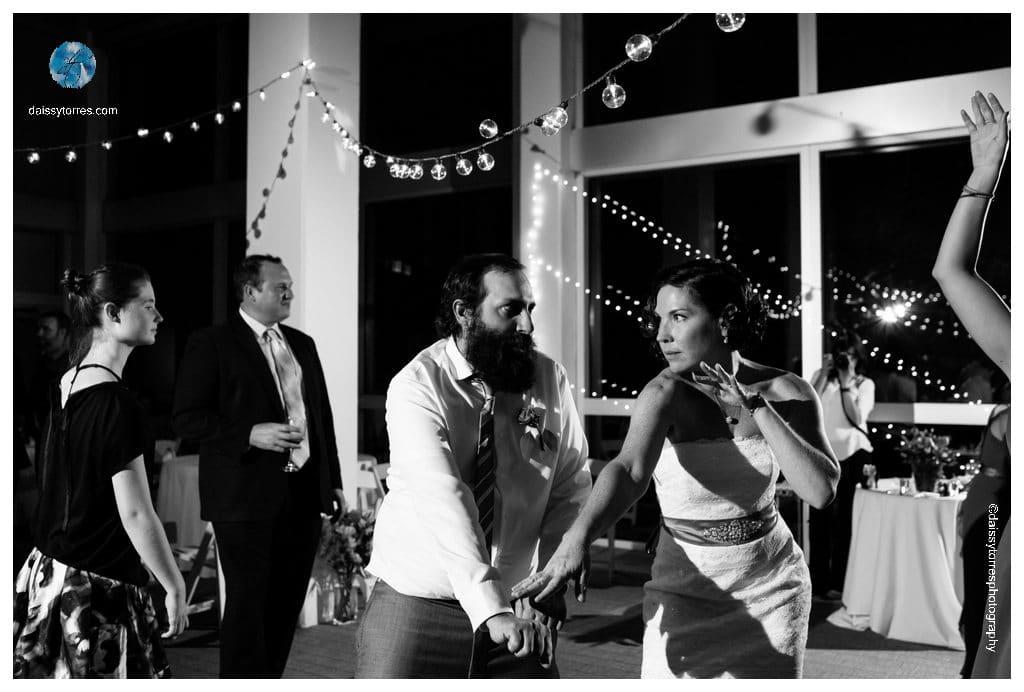 Virginia Aquarium Wedding - bride dancing