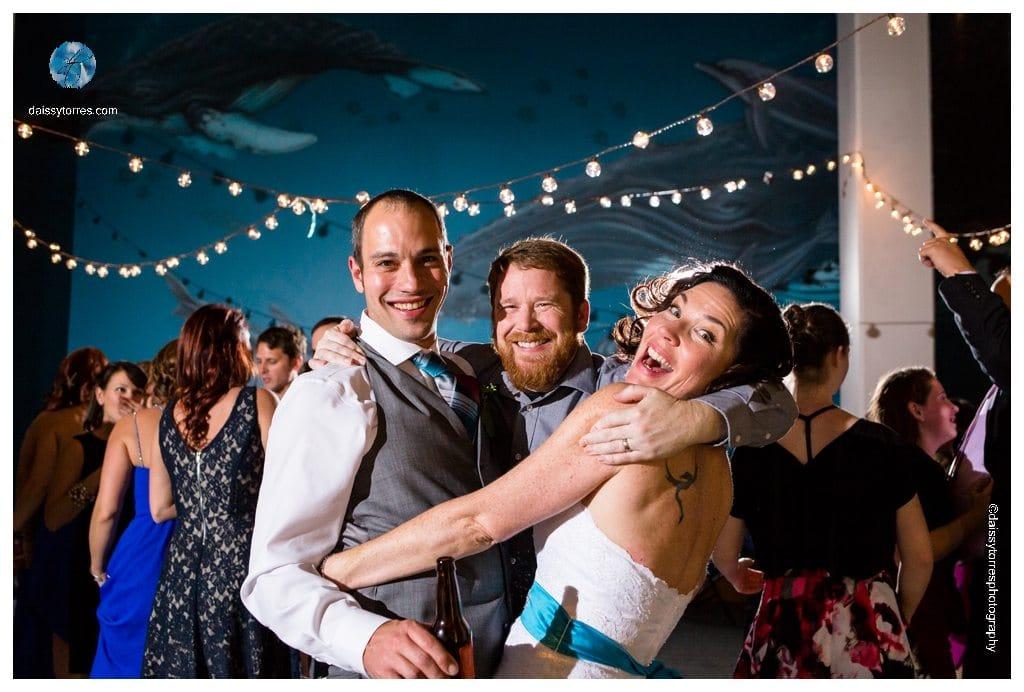 Virginia Aquarium Wedding - friends