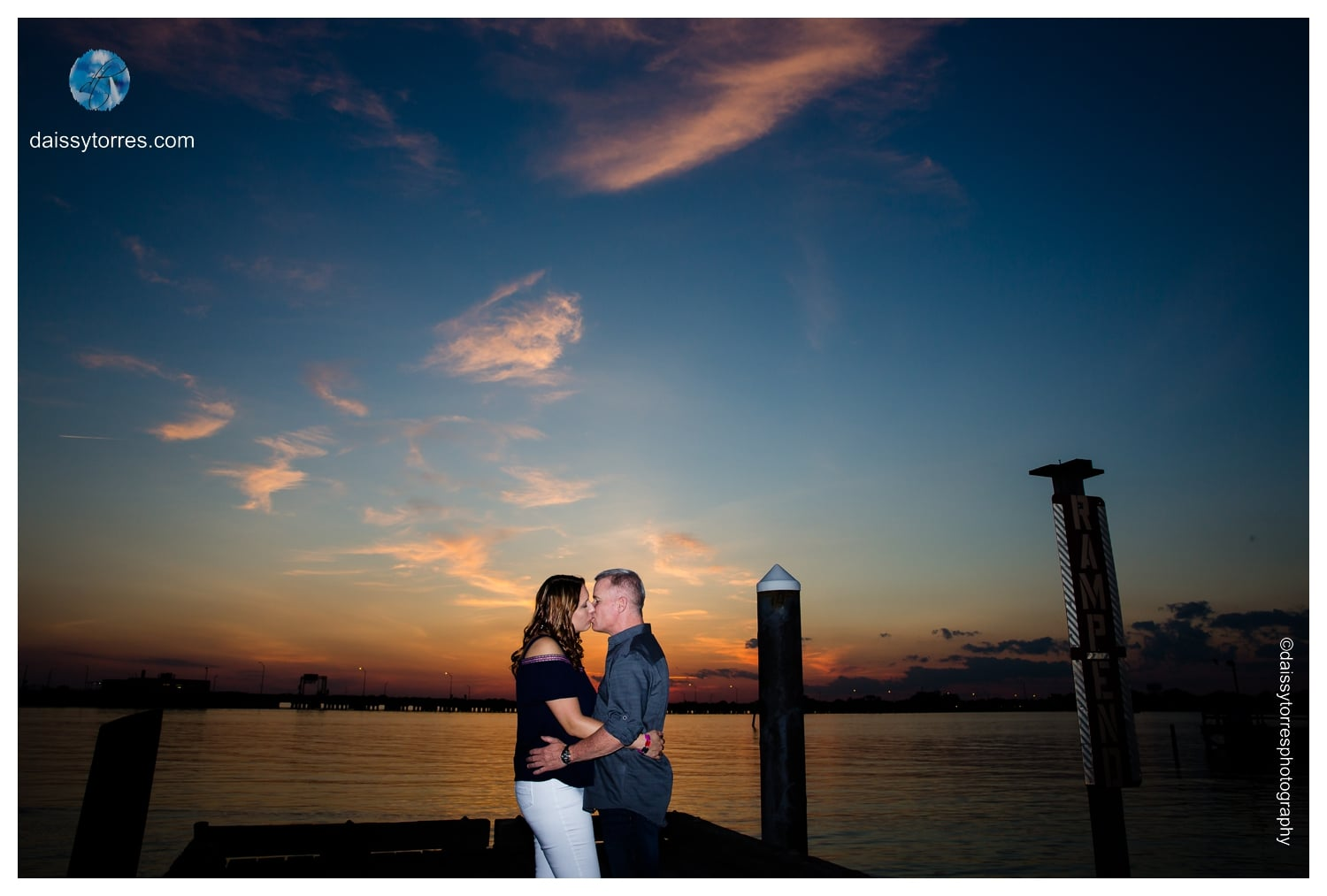 Angie and Dave - Sunset on the Pier