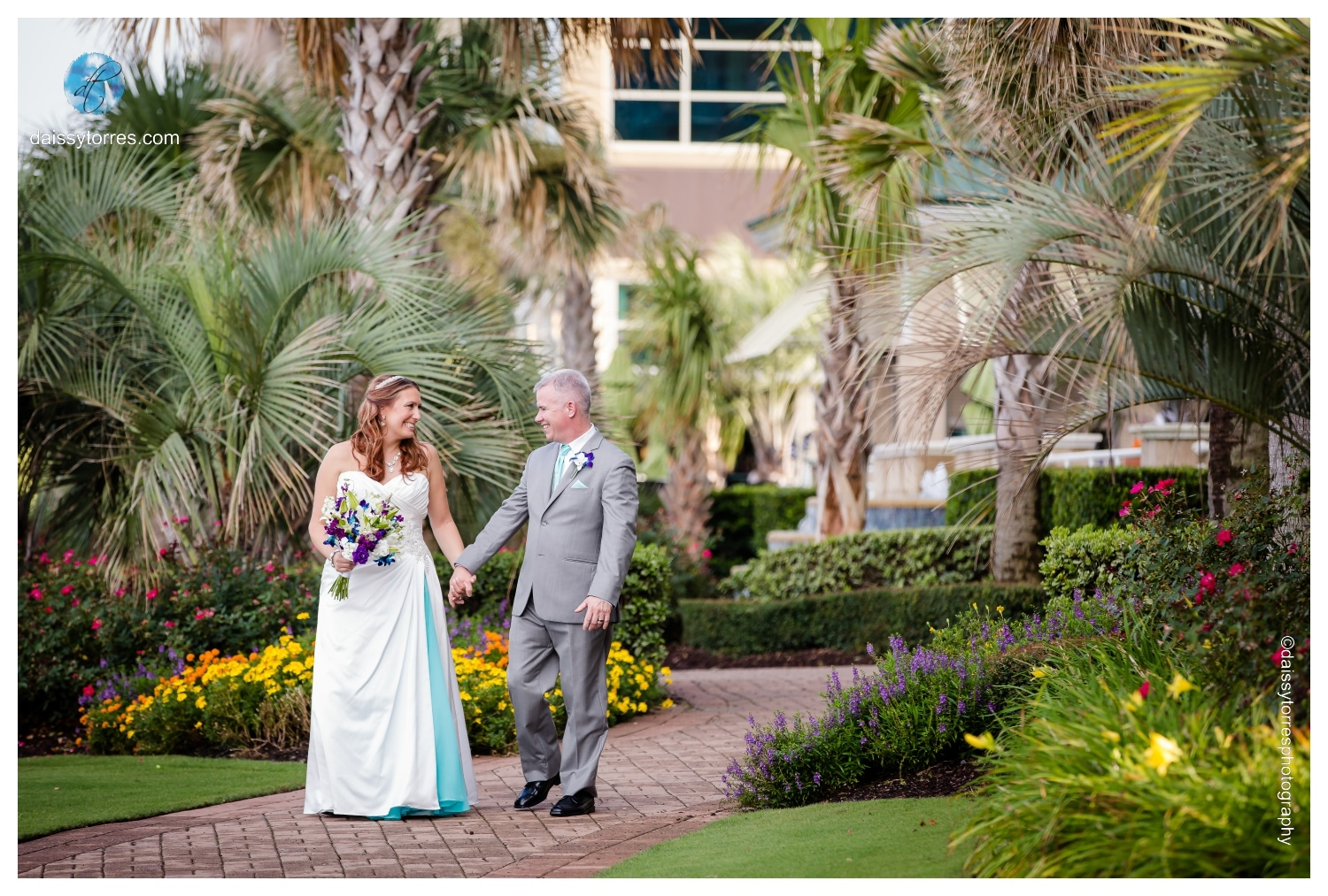 Oceanaire Resort Wedding | Angie and Dave | Purple and Blue