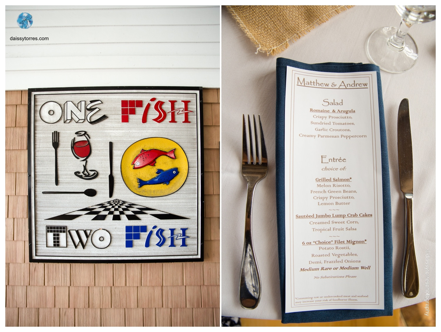 One Fish Two Fish Wedding by