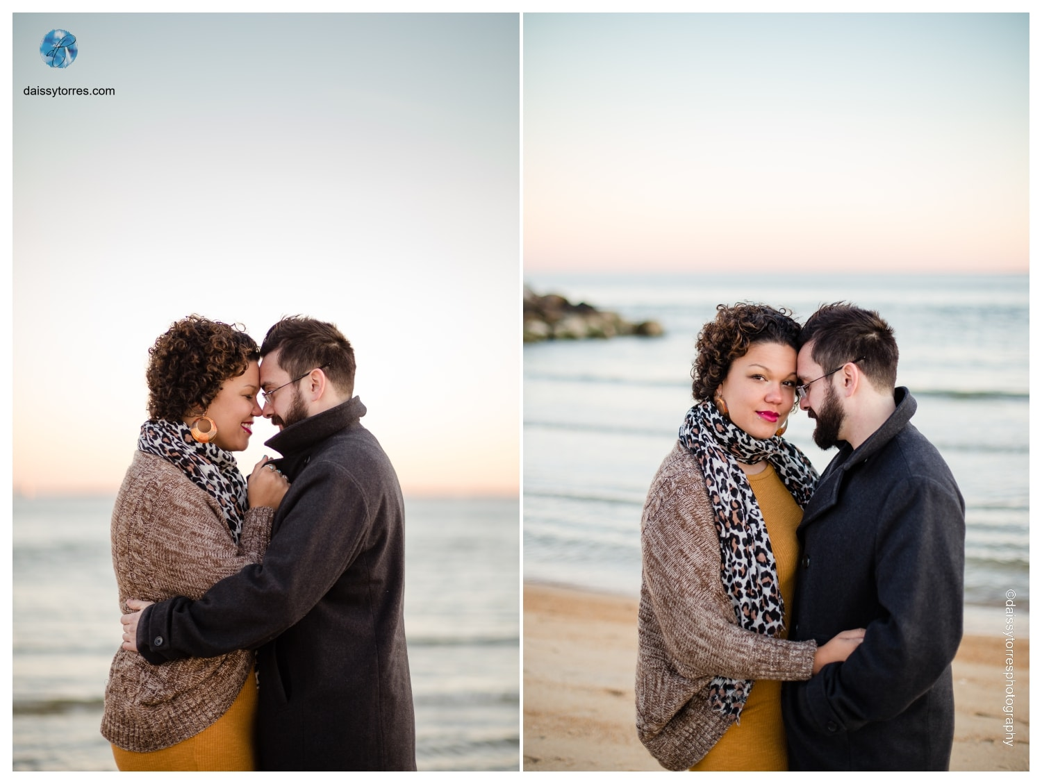 Sunset Fort Monroe Engagement Session by Daissy Torres Photography