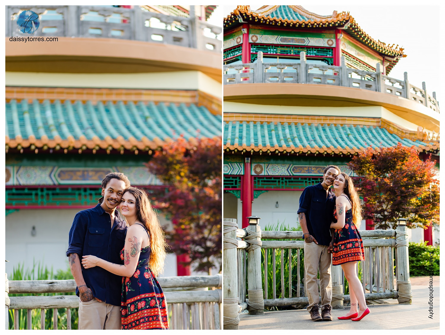 Pagoda Norfolk Engagement Session