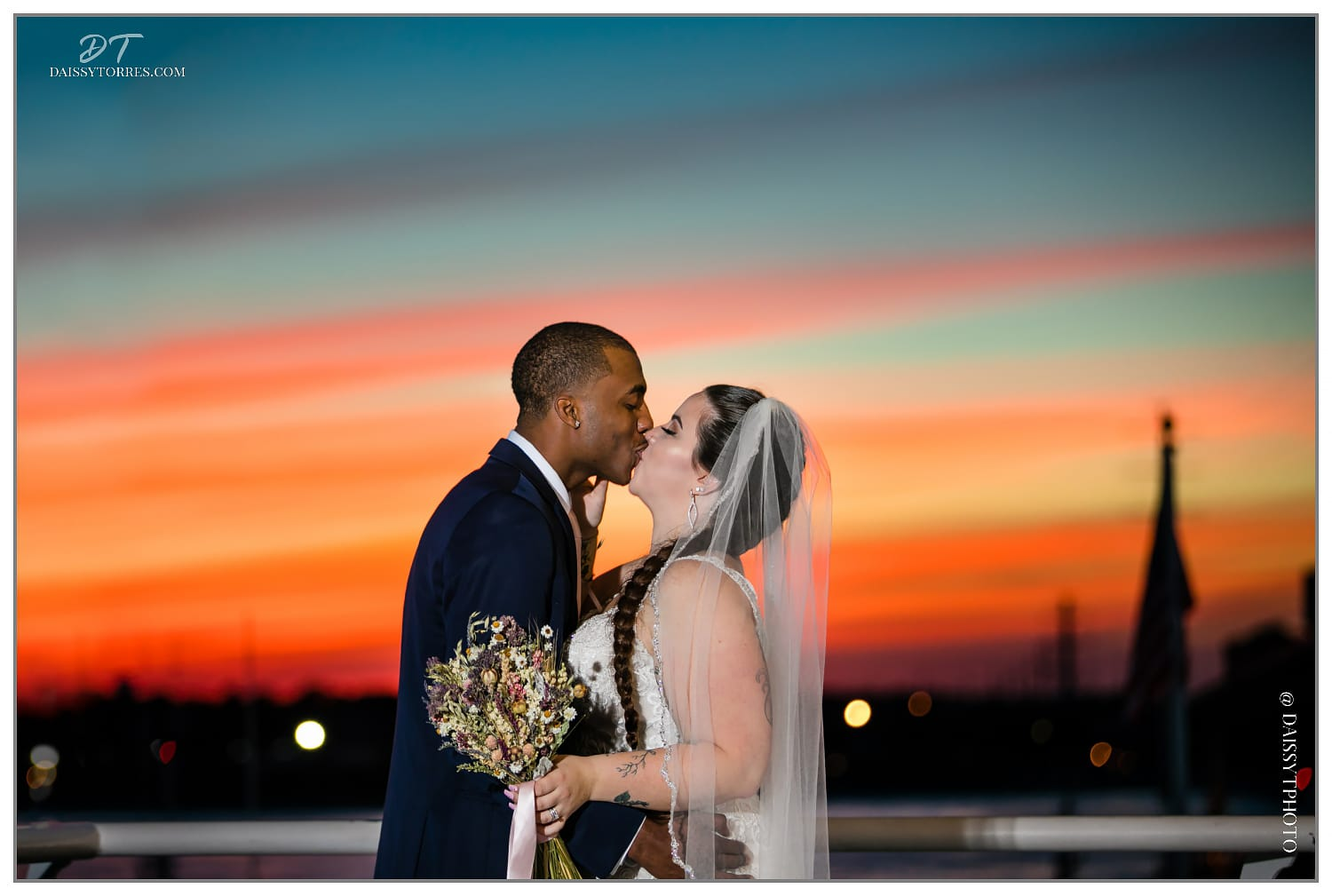 Courtney & Anthony - Lesner Inn Sunset Wedding